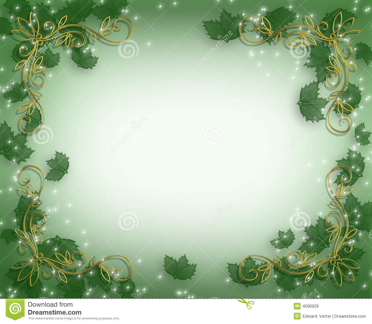 Christmas Holly Background Royalty Free Stock Images - Image: 4090929