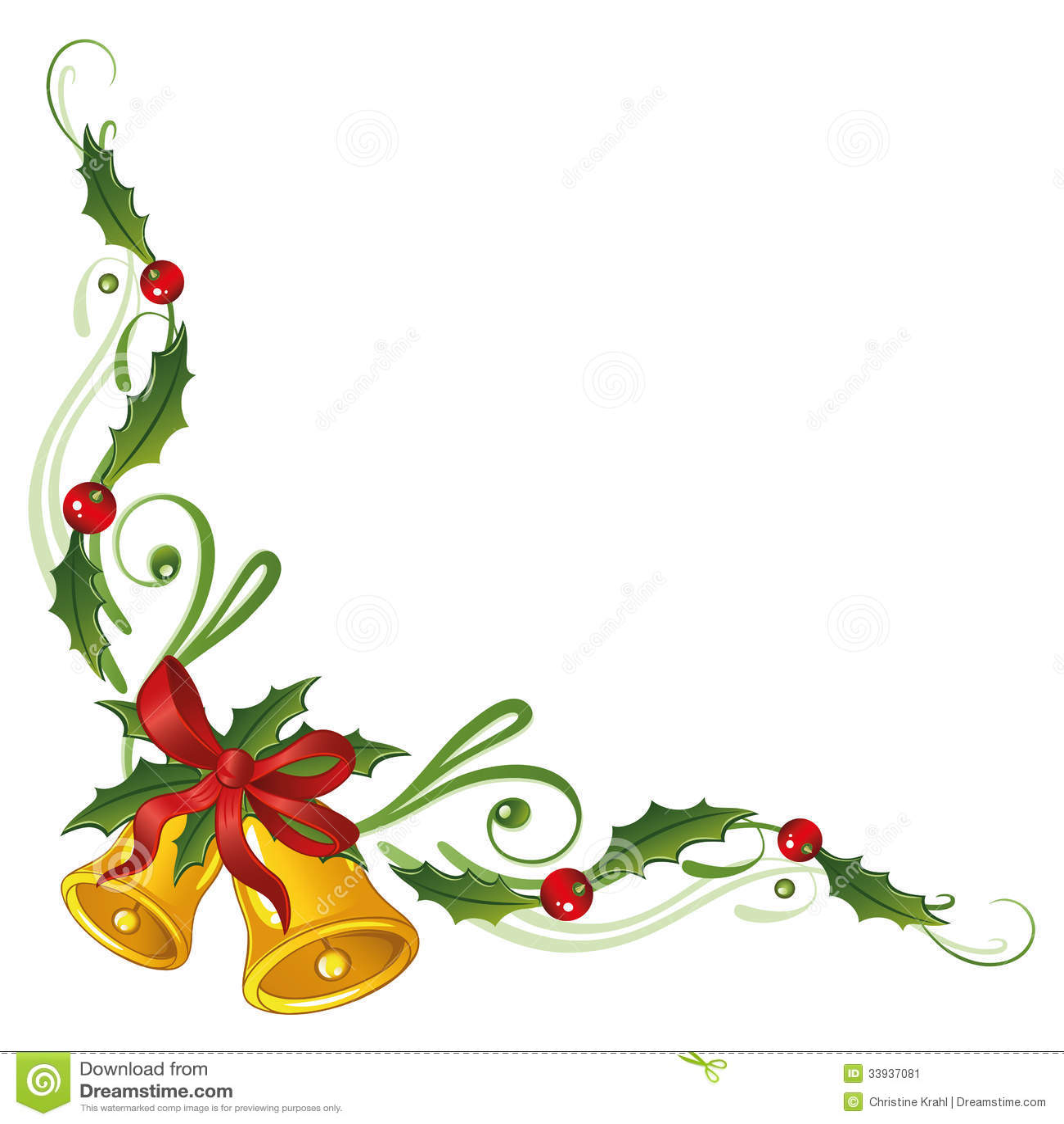 Christmas holly bells stock vector illustration of - Campanas de navidad ...