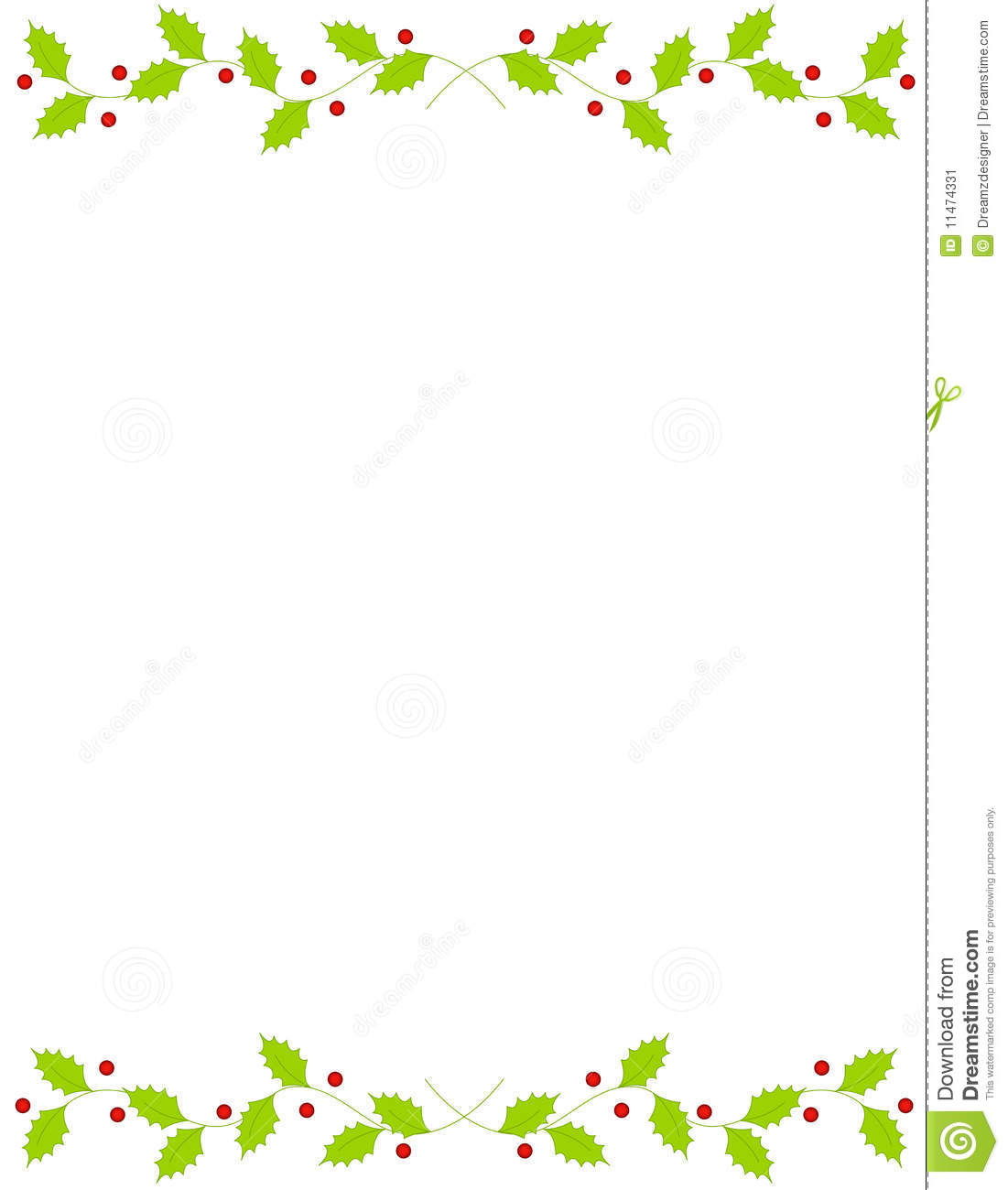 Christmas holly border stock vector image of clean
