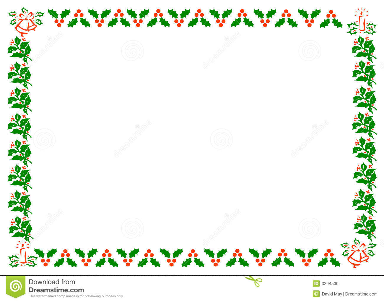 Christmas Holly Border stock illustration. Image of season ...