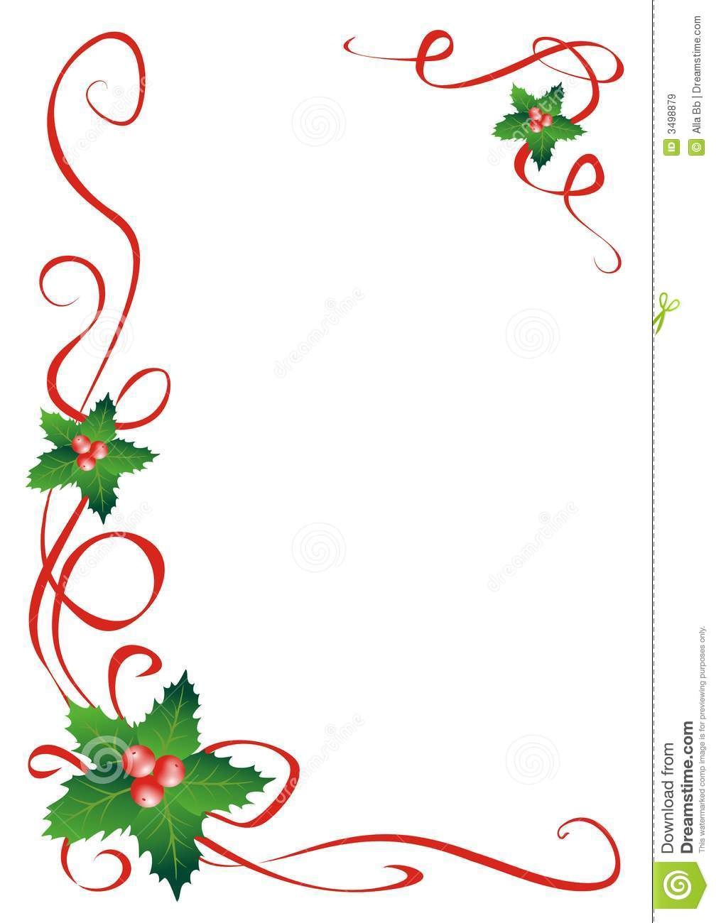 Christmas Holly Border Decoration Royalty Free Stock Images - Image ...
