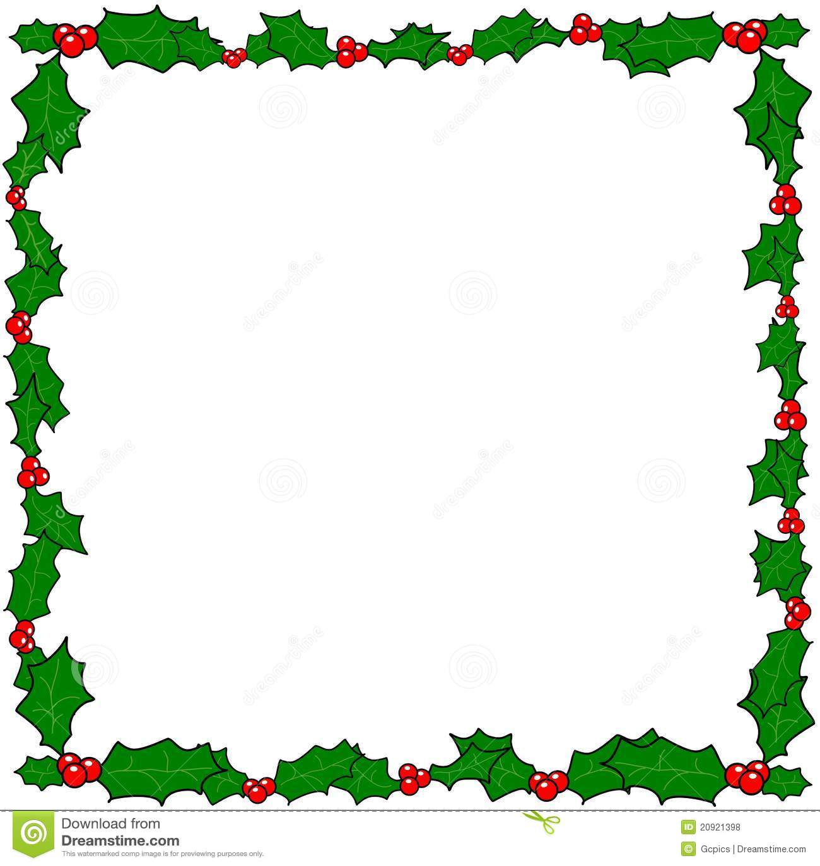 Christmas Holly Border Frame Royalty Free Stock Photos - Image ...