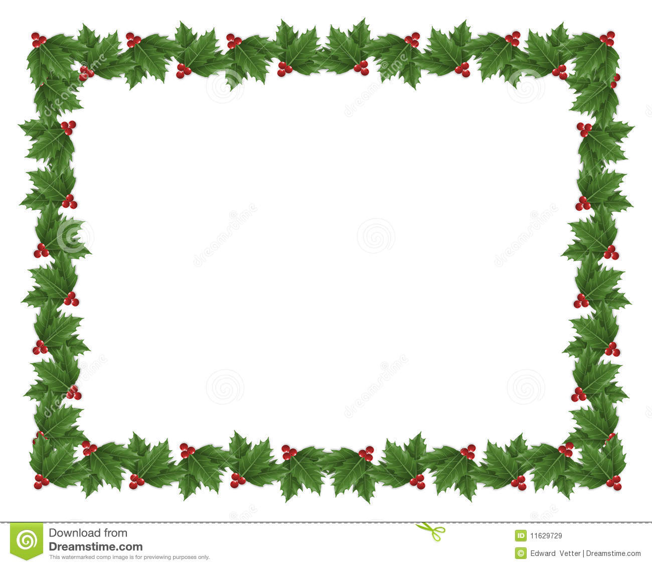 Christmas holly border illustration stock illustration image 11629729 for Holly and ivy border