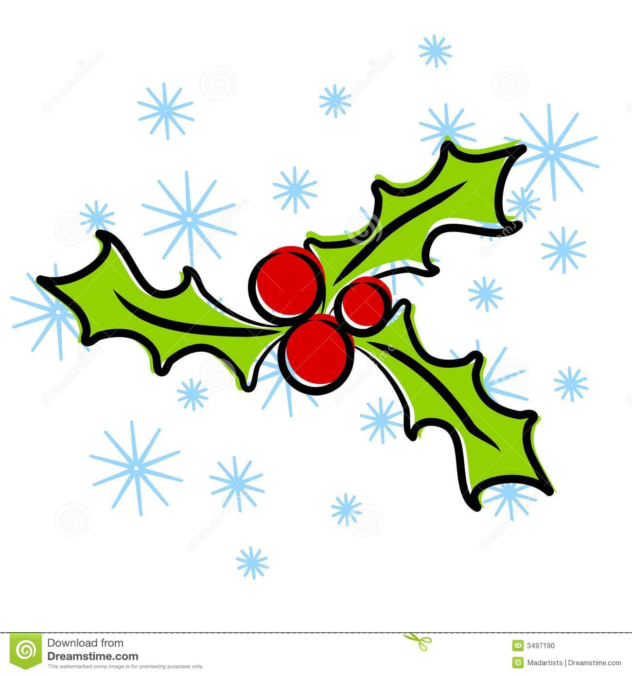 christmas holly clip art stock illustration illustration of clip rh dreamstime com christmas holly clip art designs christmas holly clip art images
