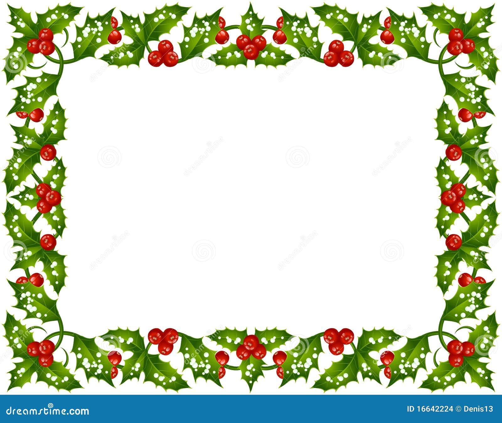 Christmas Holly Frame Christmas holly frame