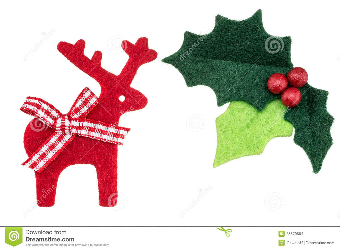 Reindeer isolated as a winter holiday symbol and seasonal decoration