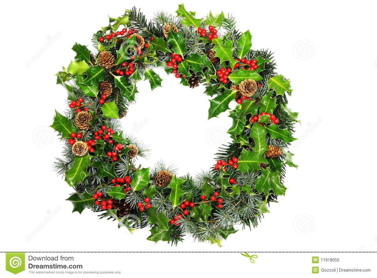 Christmas holly wreath stock photo image of plants berry