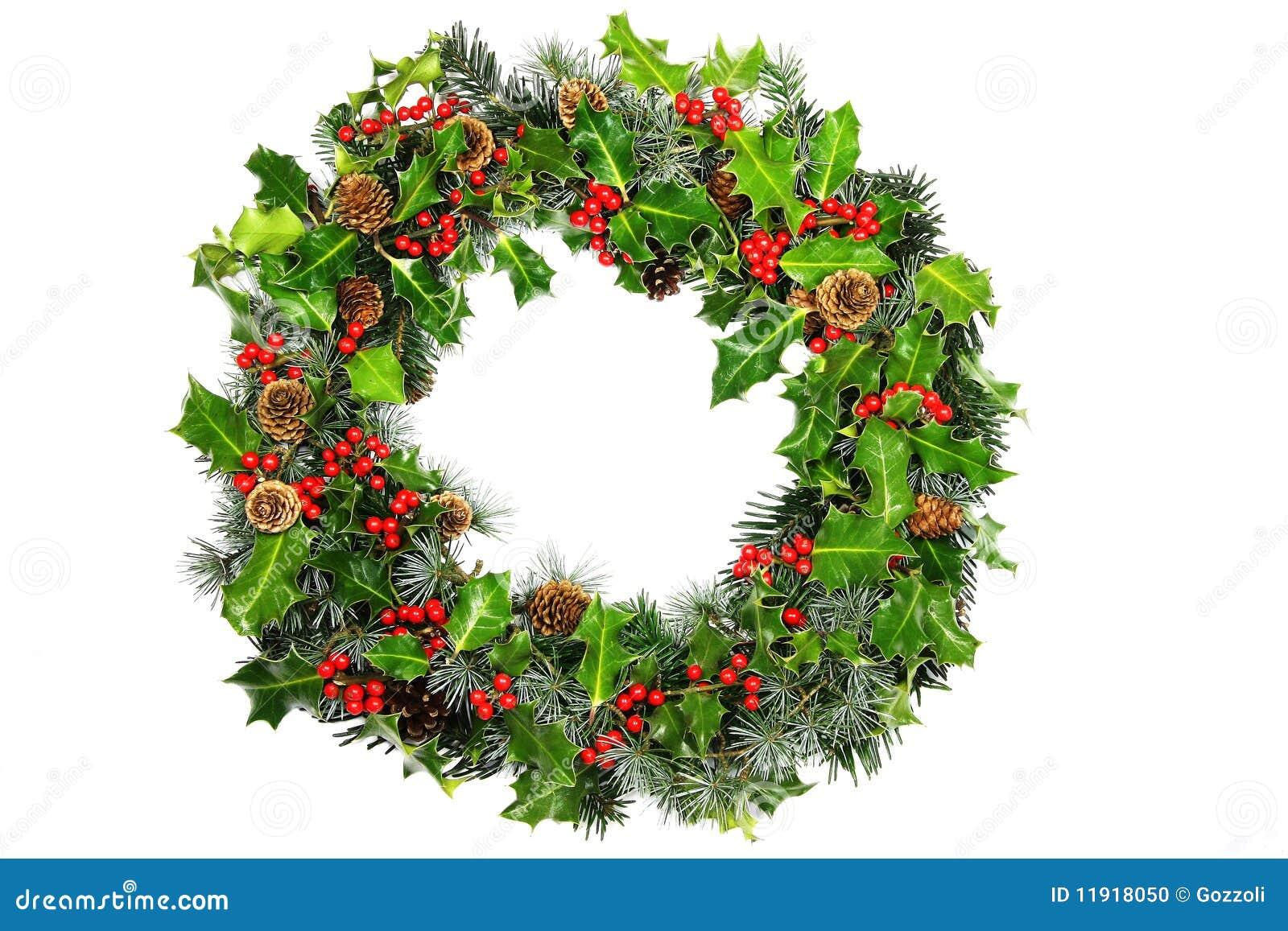 Christmas Holly Wreath Stock Photo Image 11918050