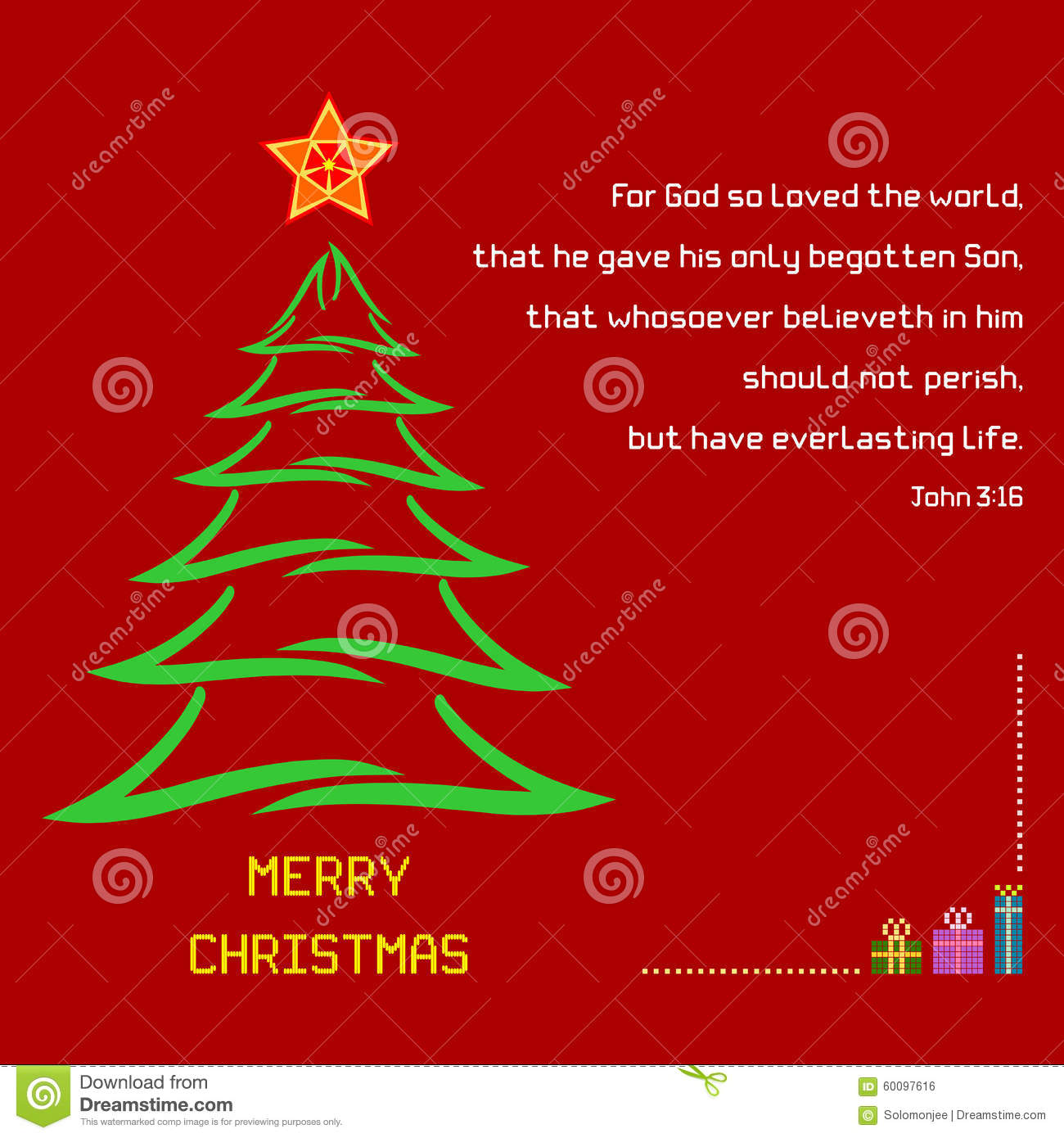 Christmas Holy Bible Verse John 316 Stock Vector Illustration Of