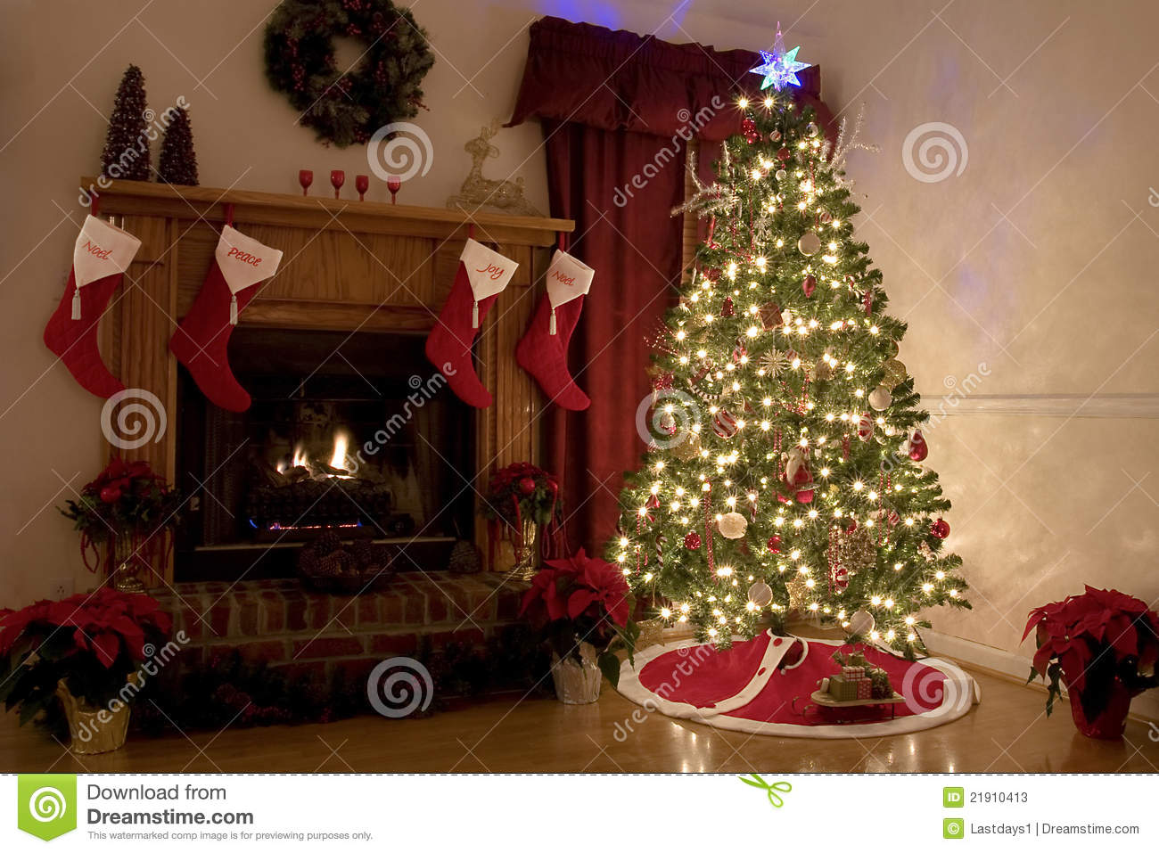 Christmas At Home Stock Image Image Of Night Adorn