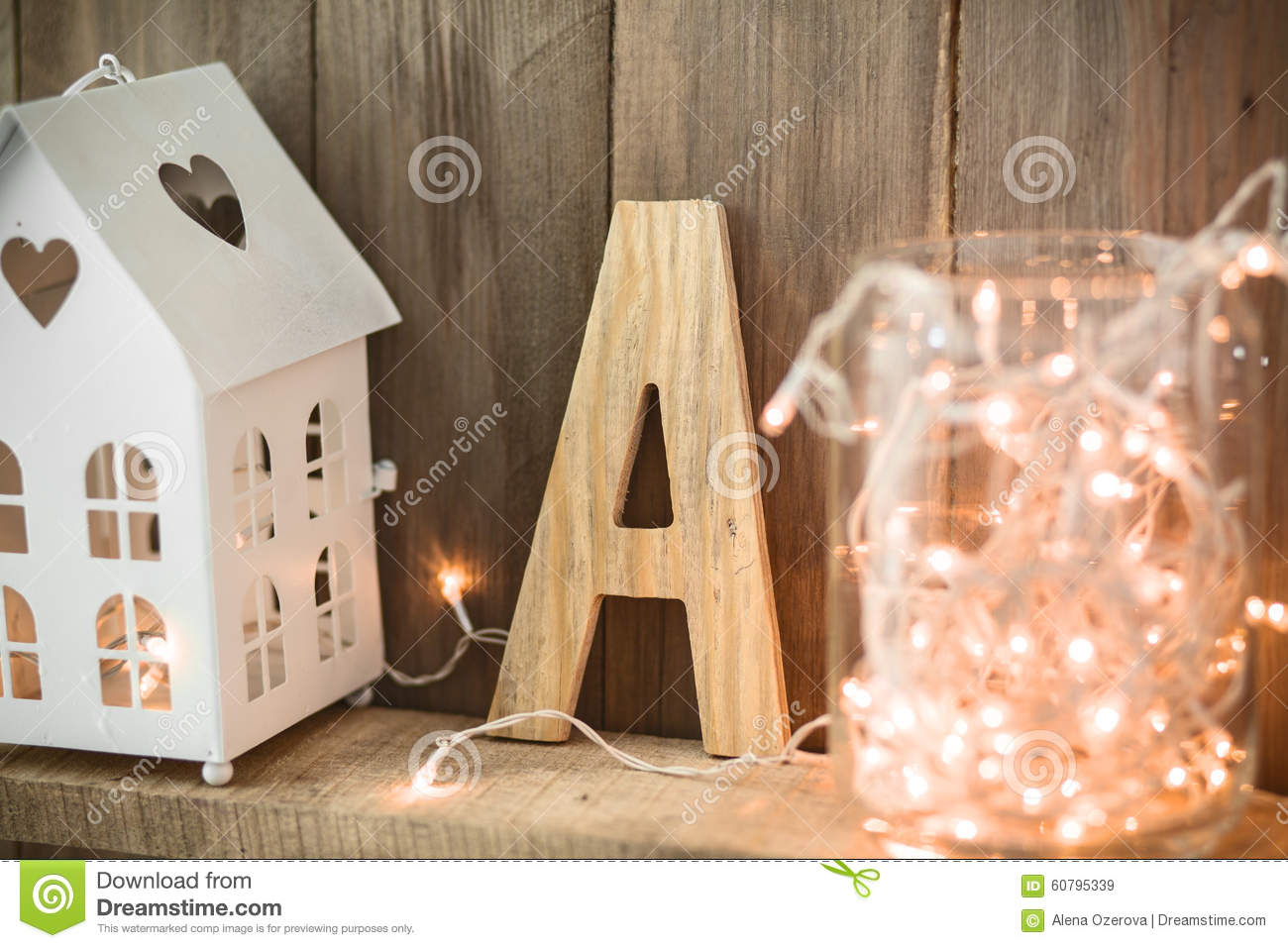 Christmas Home Decor Stock Image Image Of Interior Handicraft