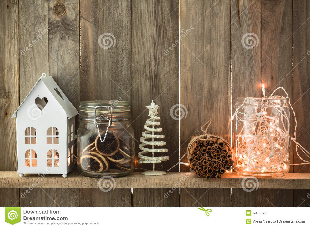 Christmas Home Decor Stock Image Image Of Natural Cinnamon 60795783