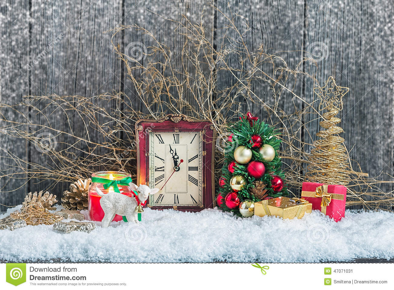 Download Christmas home decorations stock image. Image of candle - 47071031