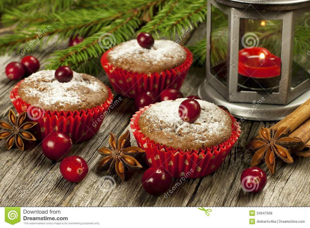 christmas homemade muffins stock photo image 34947568. Black Bedroom Furniture Sets. Home Design Ideas