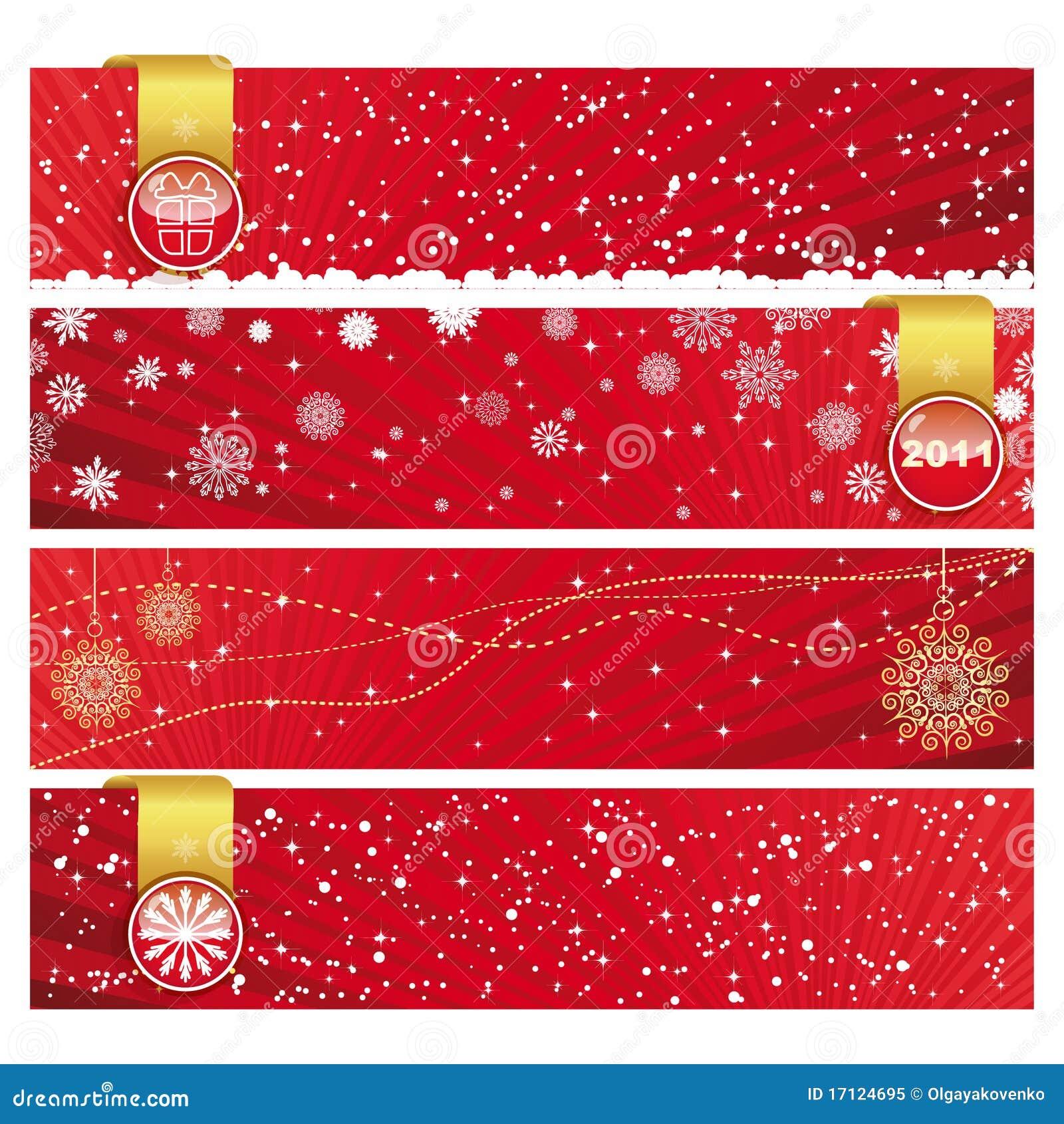 Christmas Horizontal Banner Royalty Free Stock Photo - Image: 17124695
