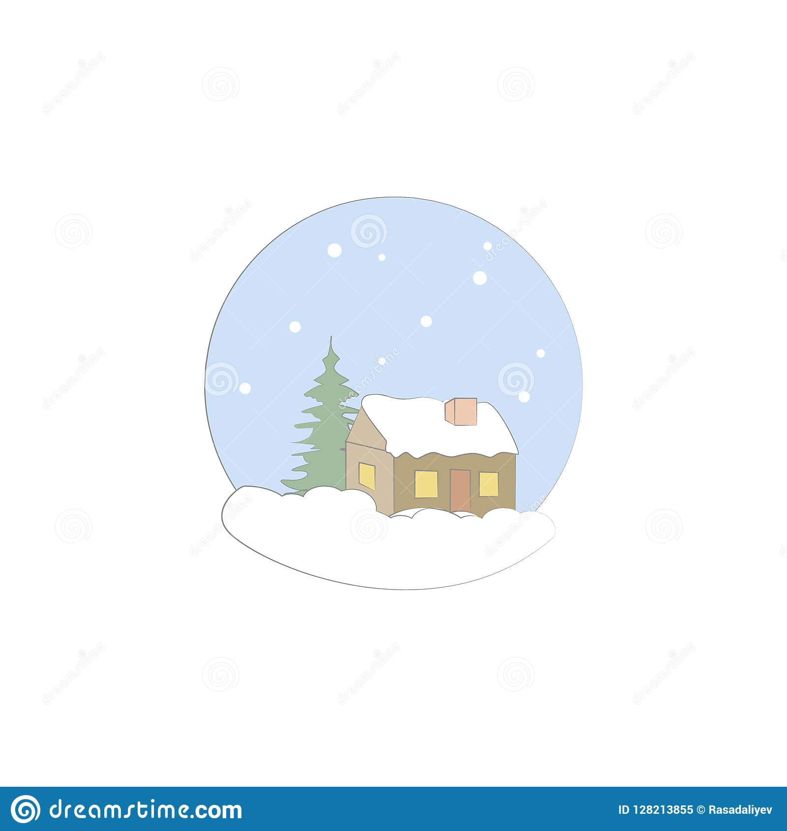 Christmas, house, winter icon. Element of Christmas for mobile concept and web apps. Colored Christmas, house, winter illustration