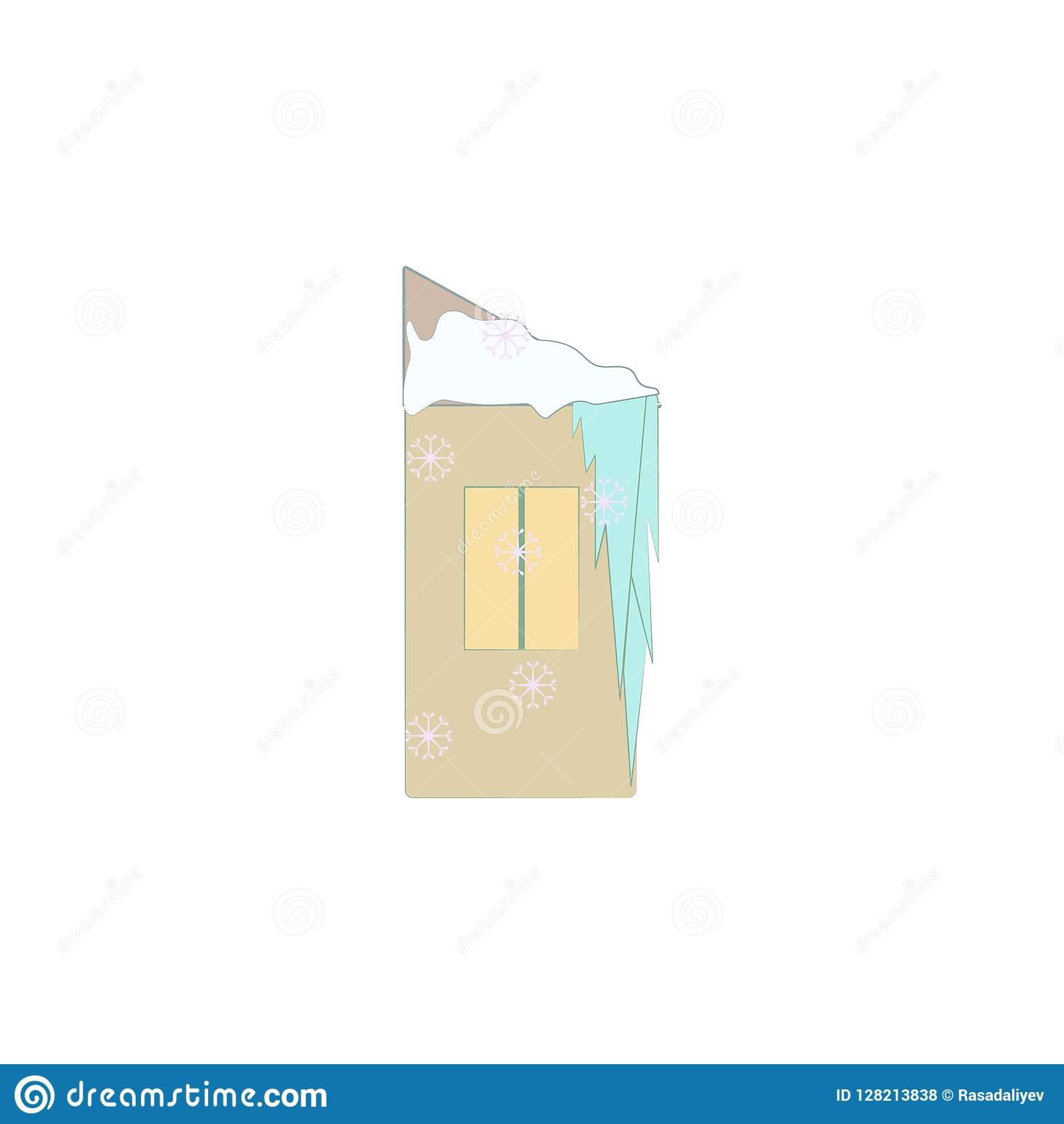 Christmas, ice house icon. Element of Christmas for mobile concept and web apps. Colored Christmas, ice house illustration can be
