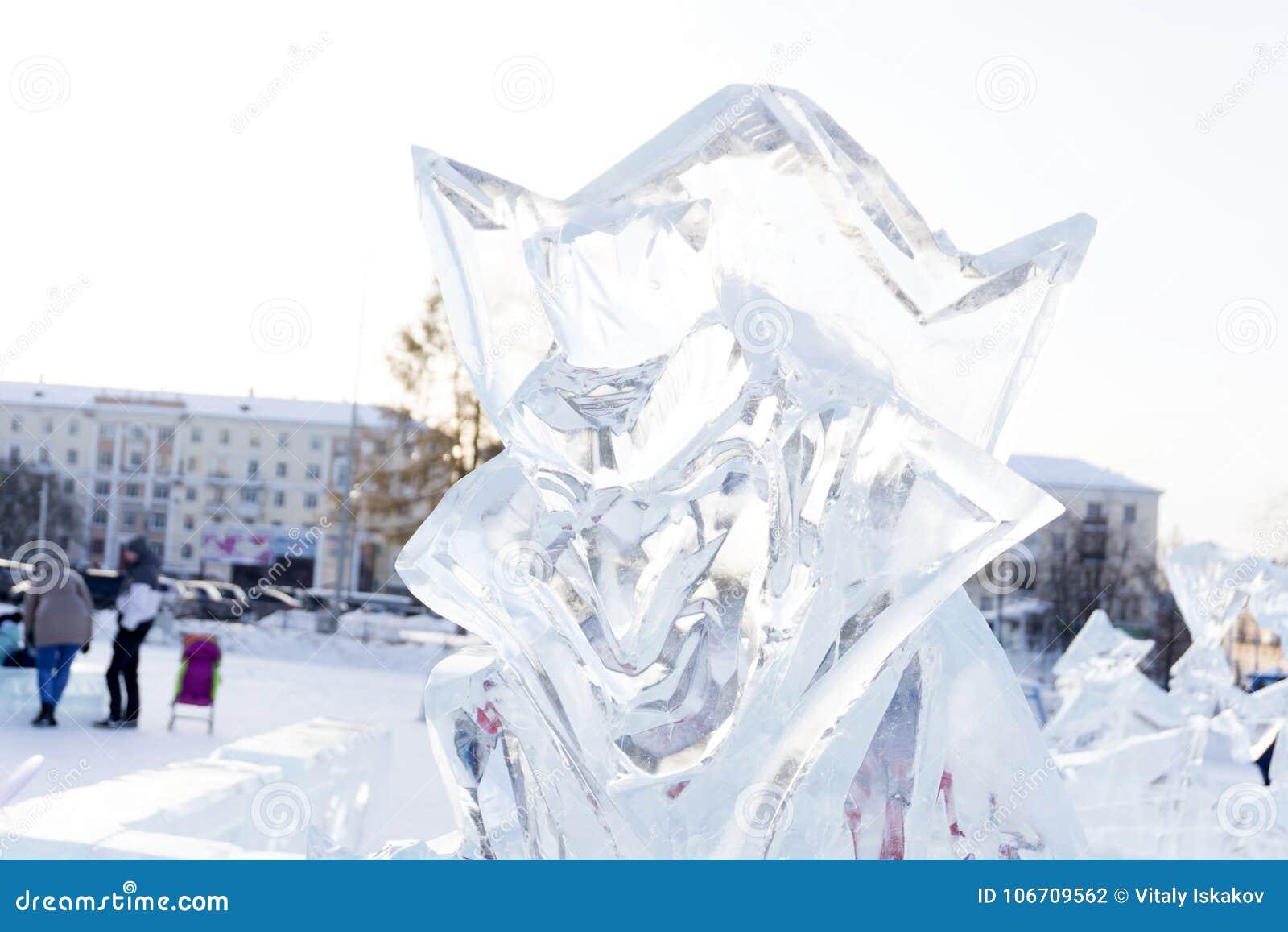 Christmas Ice Sculptures Grandmother Yagi Editorial Photography ...