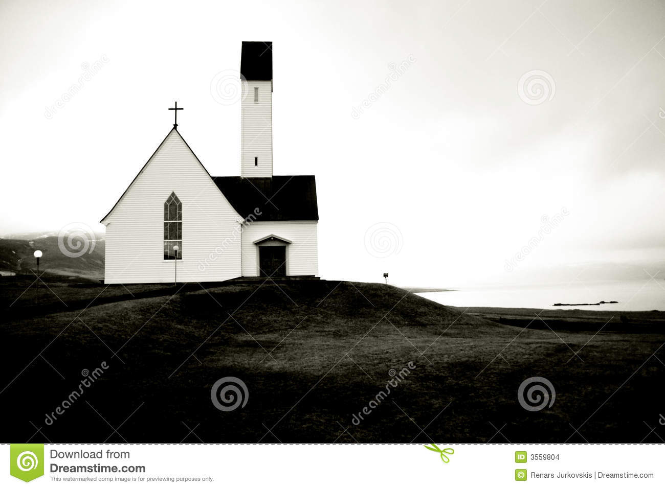 Christmas in Iceland stock photo. Image of church, high - 3559804