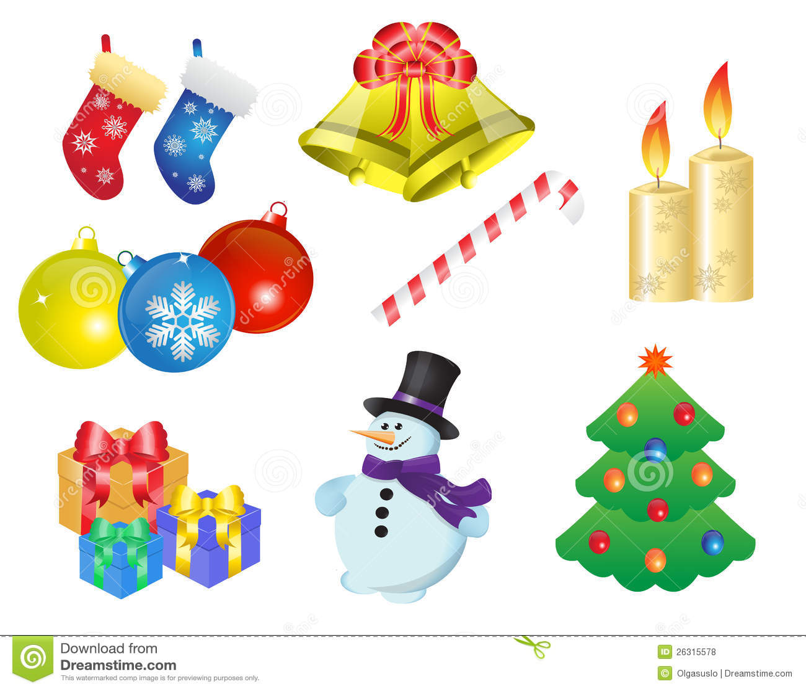 Christmas Icons Royalty Free Stock Photos - Image: 26315578