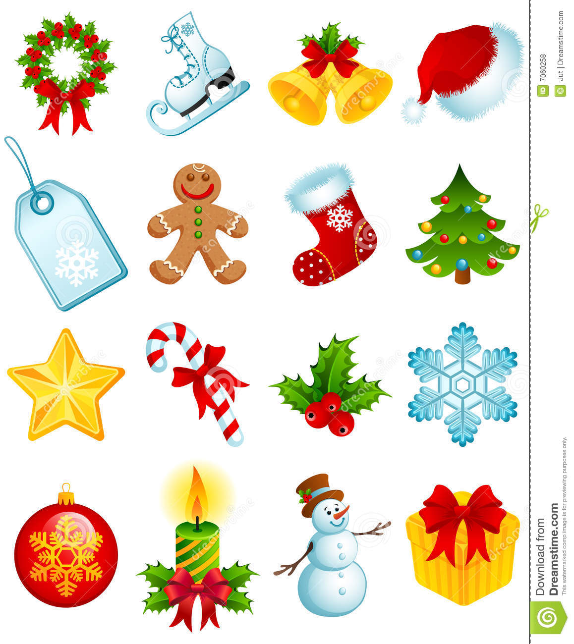 Christmas Icons Stock Vector Illustration Of Icon Cane