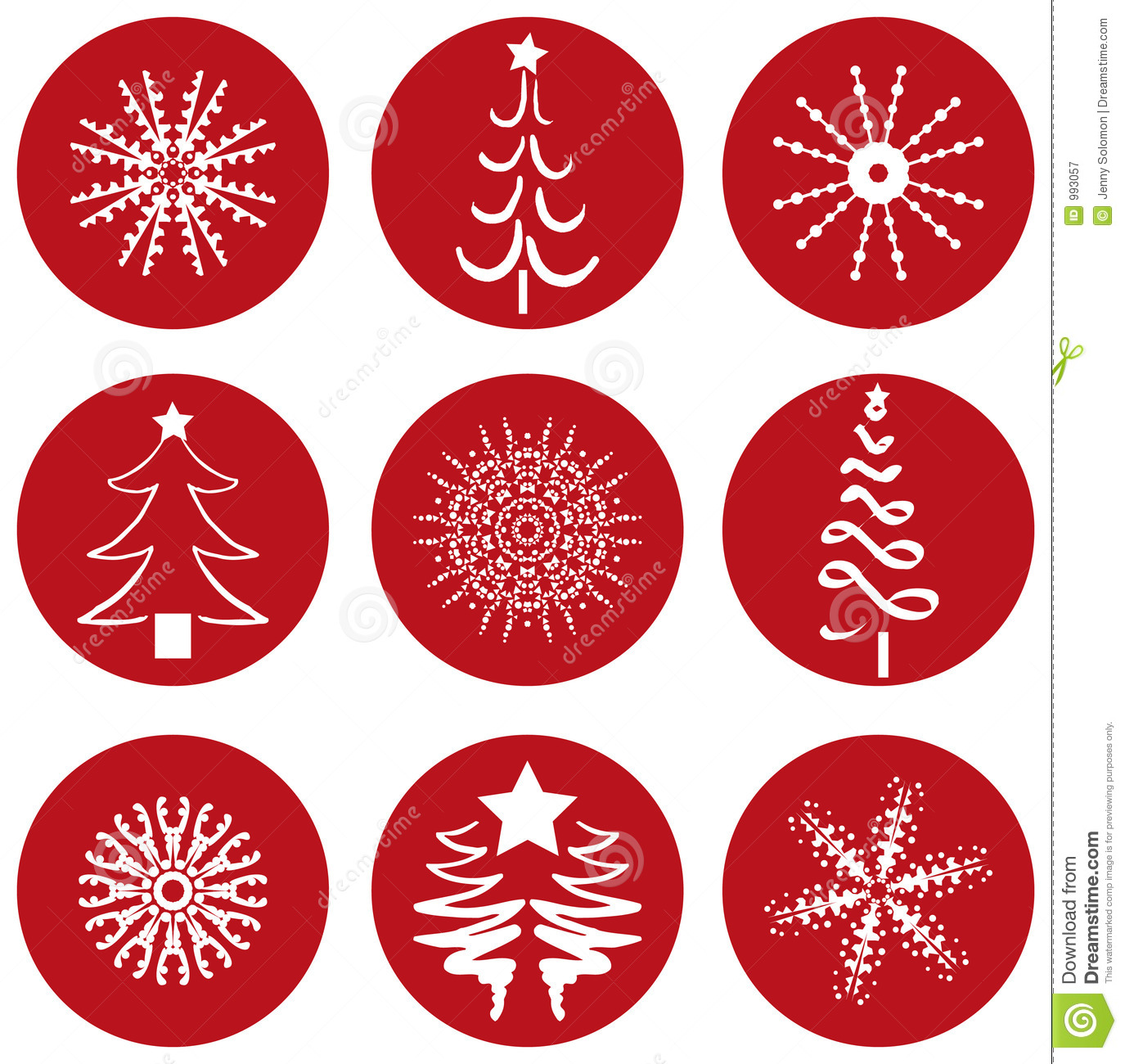 Christmas Icons Icons Stock Vector Illustration Of Snowing