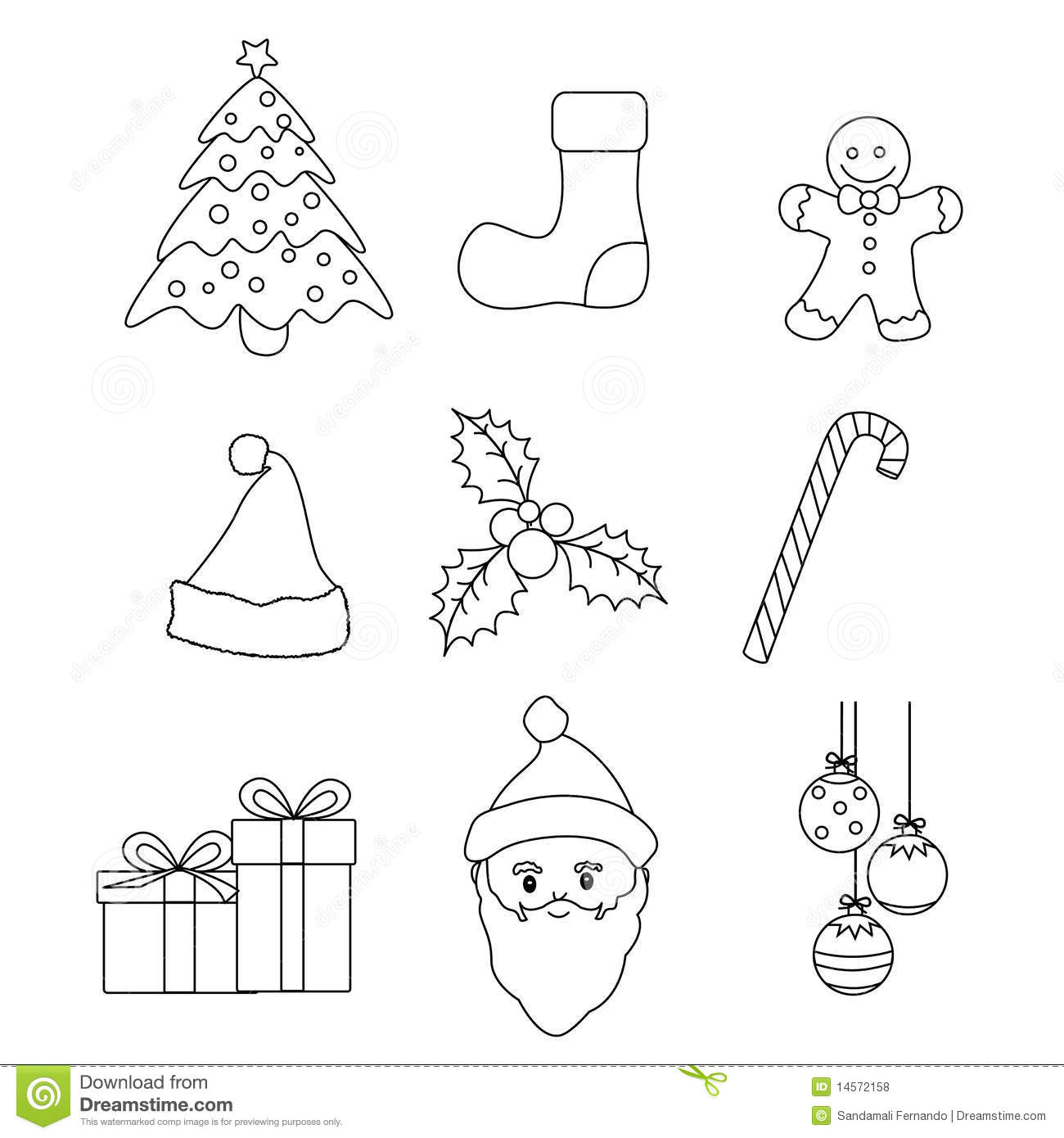 Christmas Icons Vector Stock Vector Image Of Collection