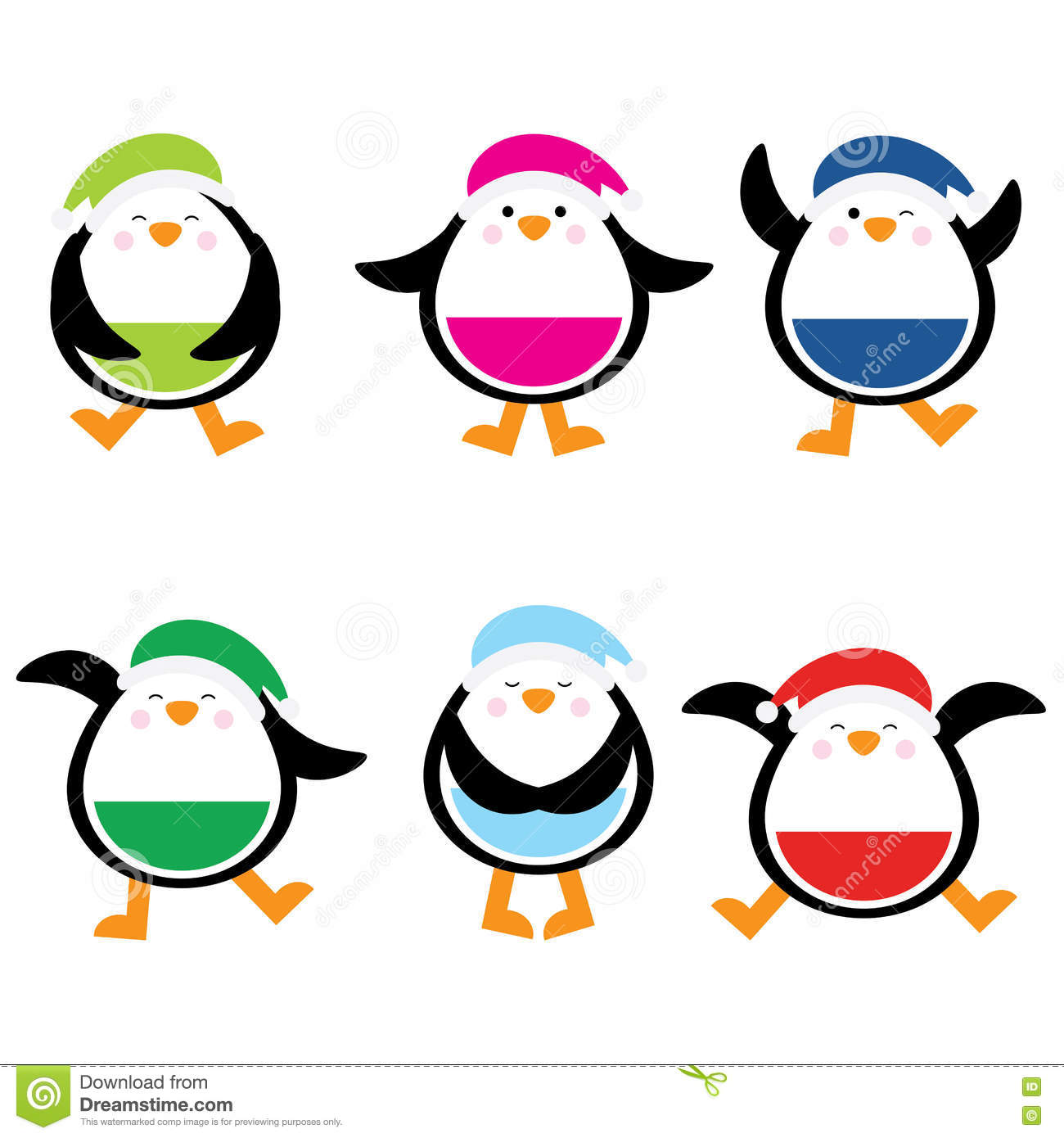 christmas illustration with cute colorful penguin suitable for rh dreamstime com postcard clipart free download clipart postcard stamp