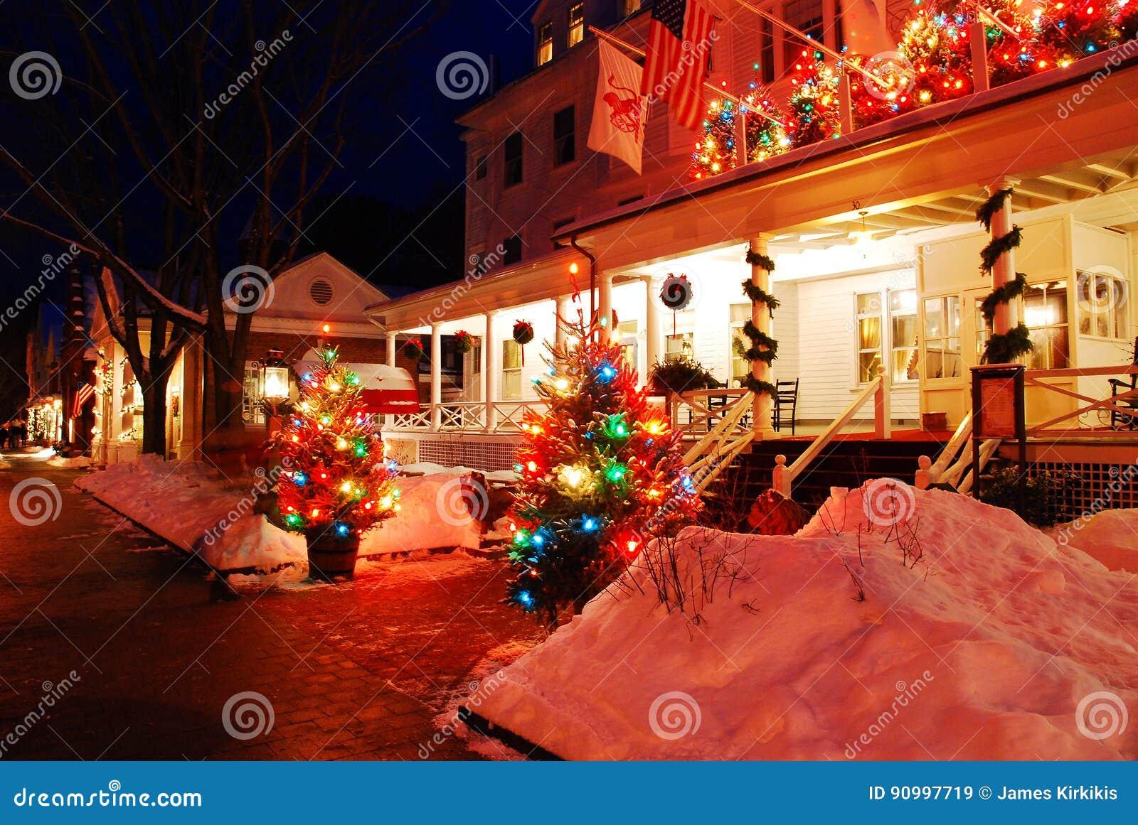 The Christmas Inn.Christmas At The Inn Editorial Stock Image Image Of