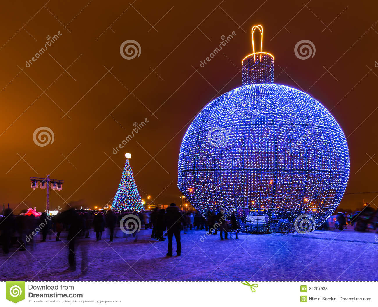 Russian Christmas 2019 Christmas Installation In Moscow   Russia Stock Image   Image of