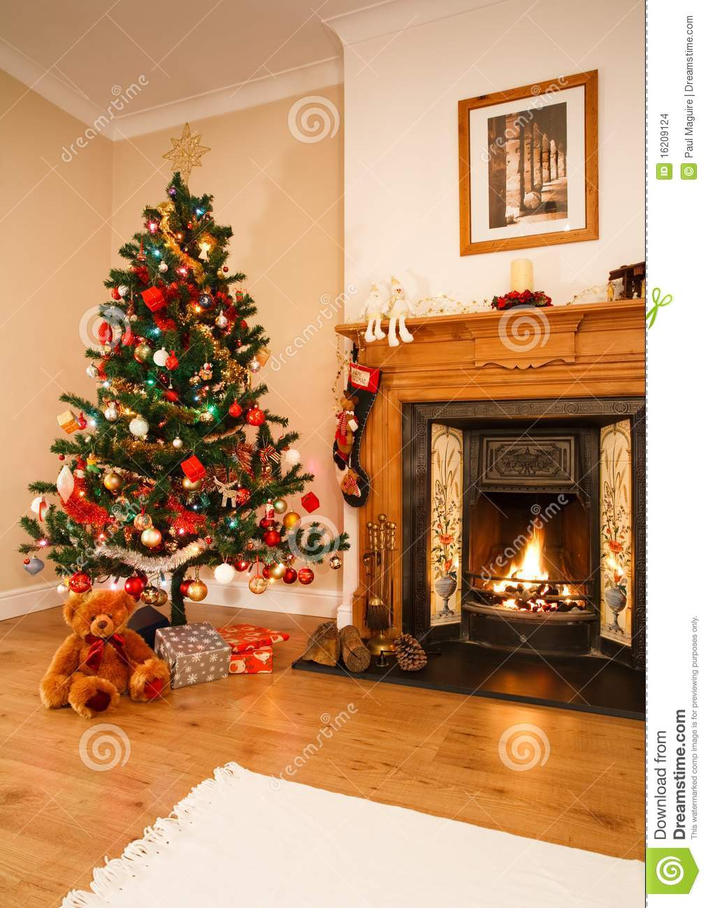 Christmas Interior Stock Images Image 16209124