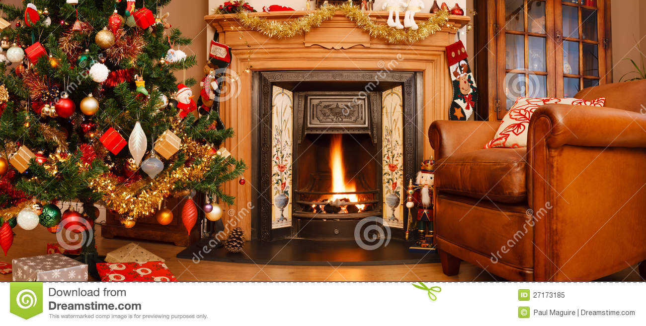 Christmas Interior Panorama Royalty Free Stock Photo ...