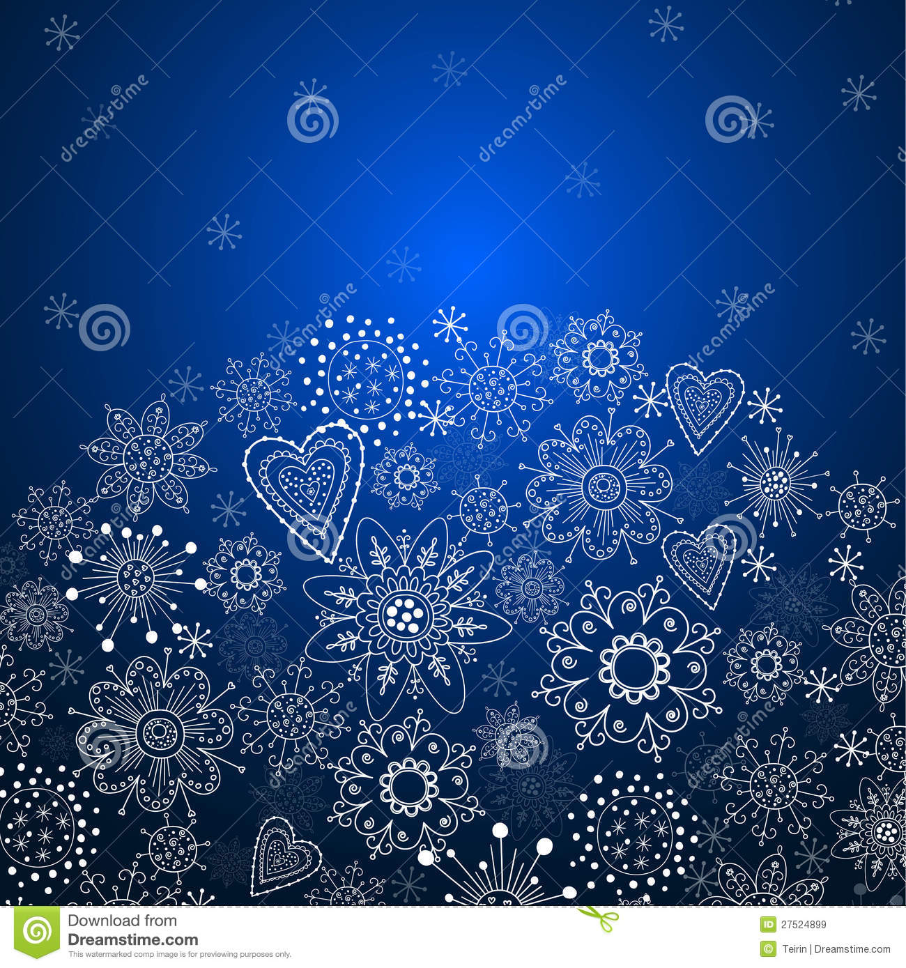 christmas invitation card with blue background royalty