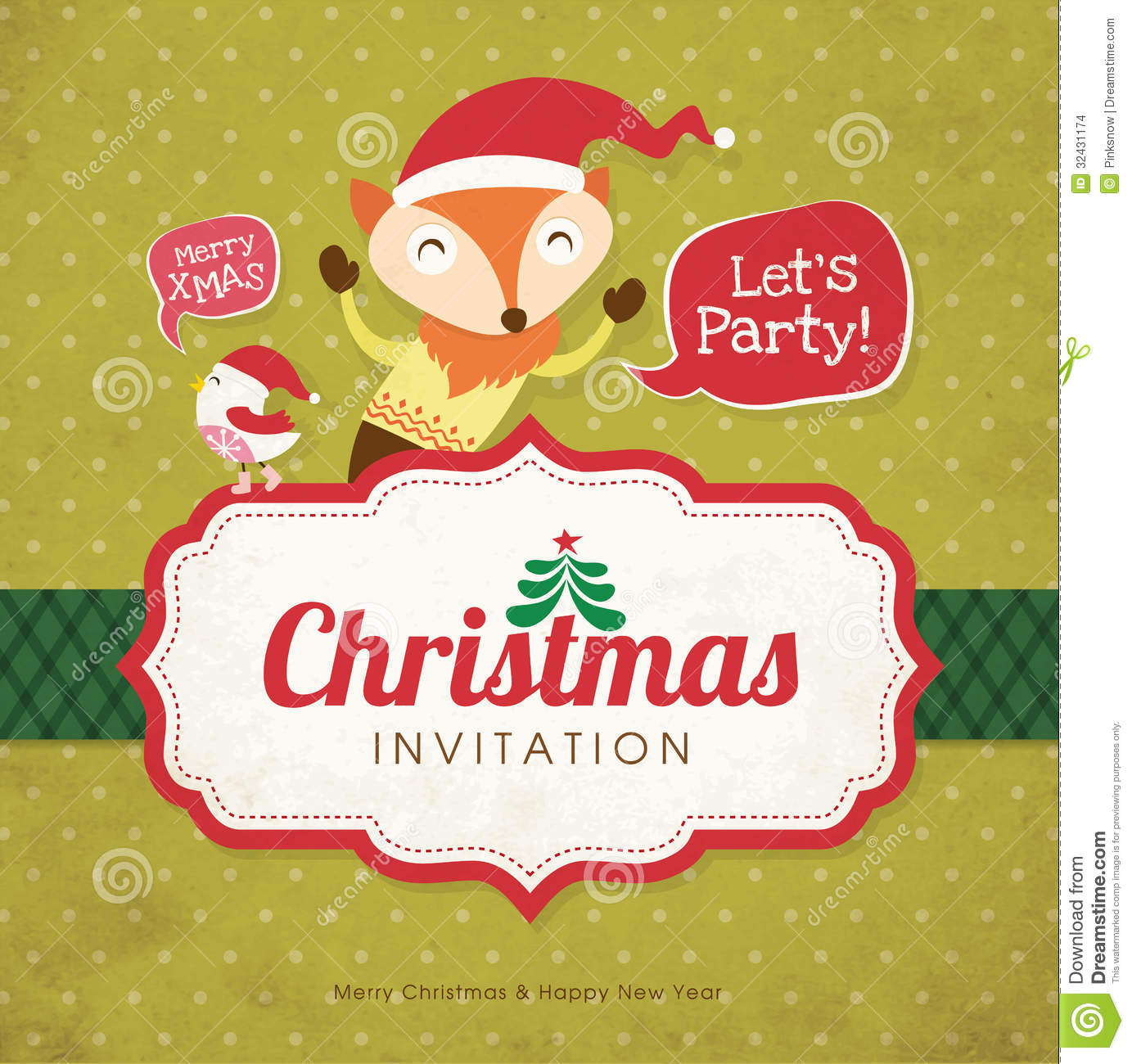 christmas cards invitation christmas invitation cards christmas invitation card stock images image 32431174