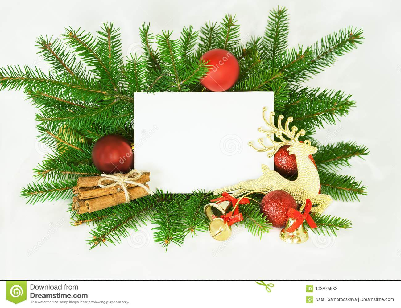 christmas invitation card for holiday greeting decorated