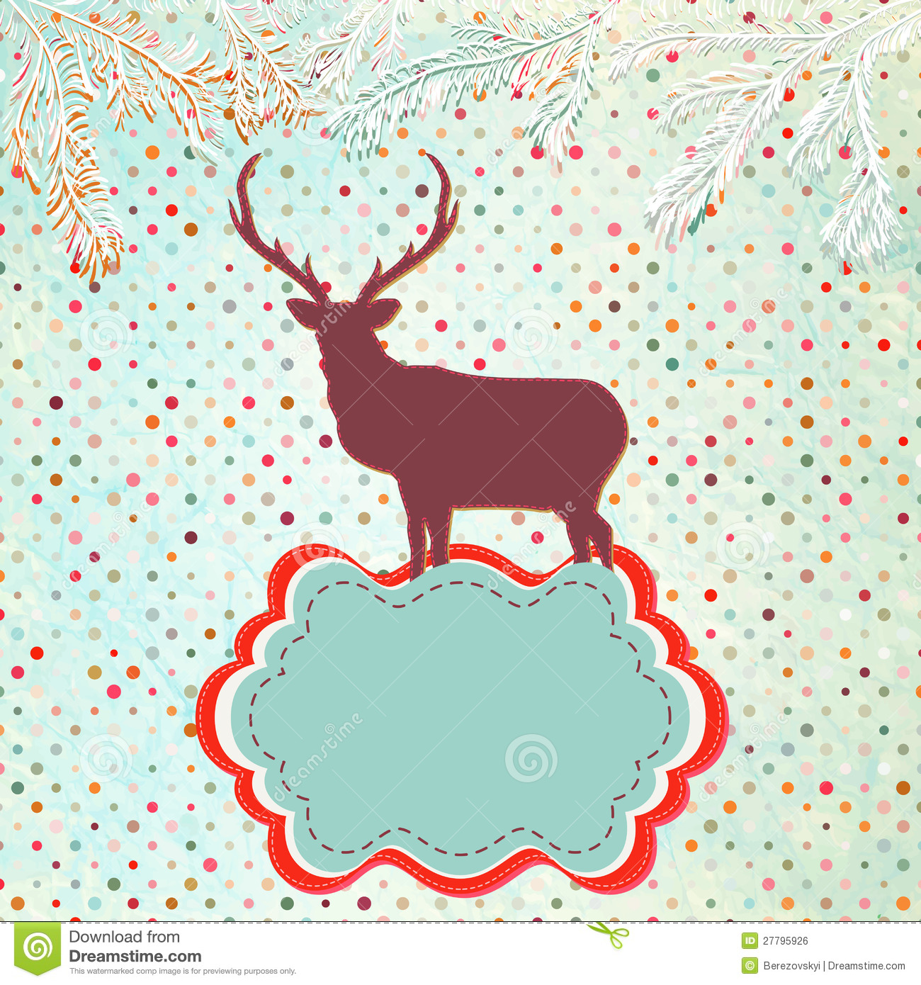 Christmas Invitations Free Template.Christmas Invitation Card Template Eps 8 Stock Vector