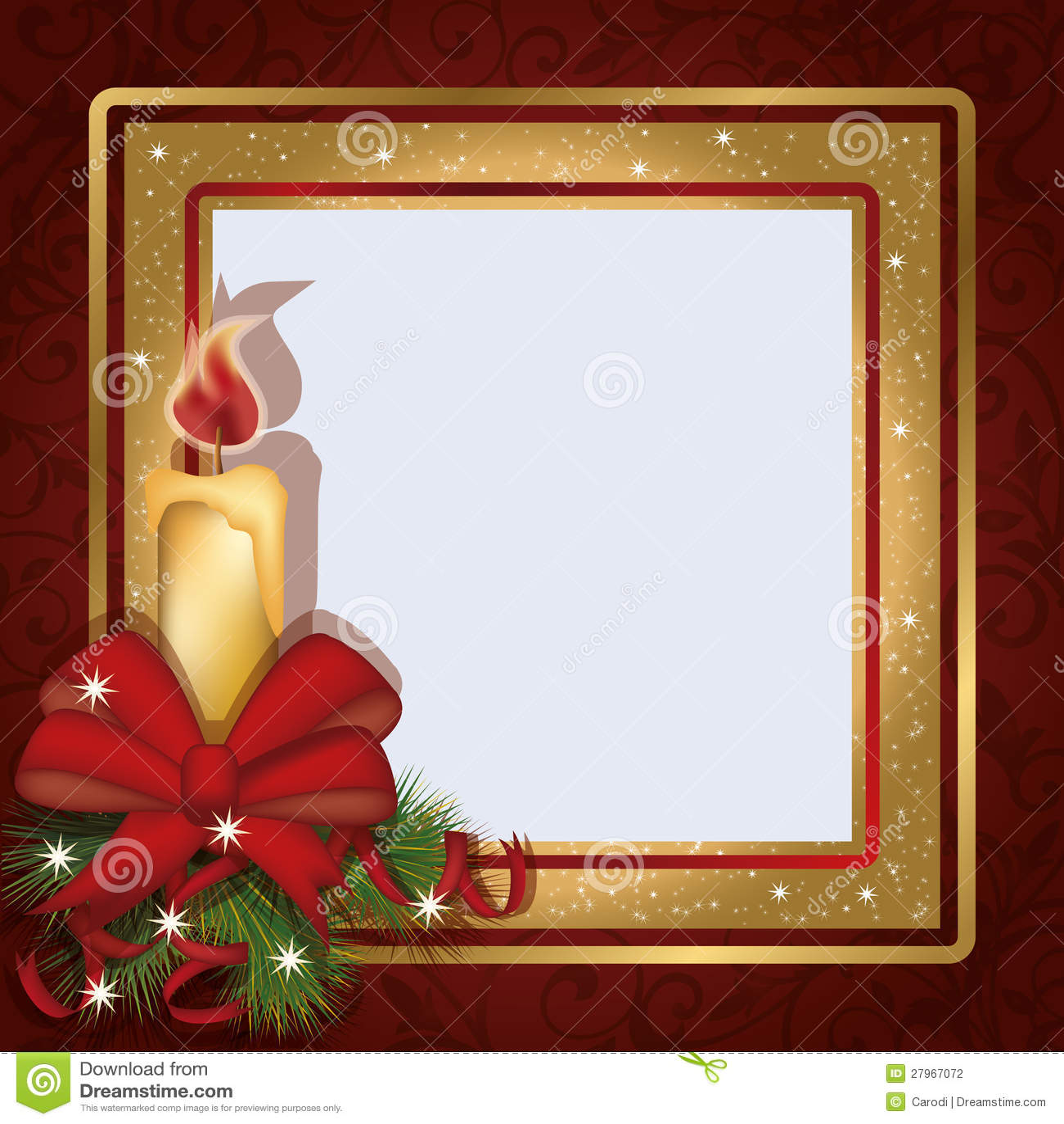 Christmas invitation photo frame scrapbooking