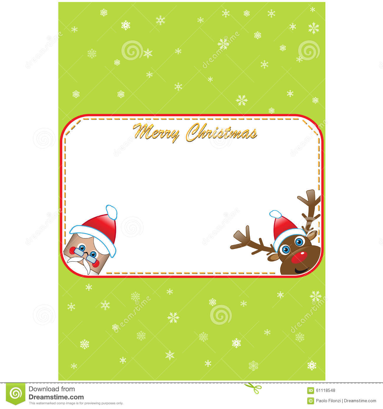 christmas invite royalty stock photography image  christmas invite santa and rudolf royalty stock photos
