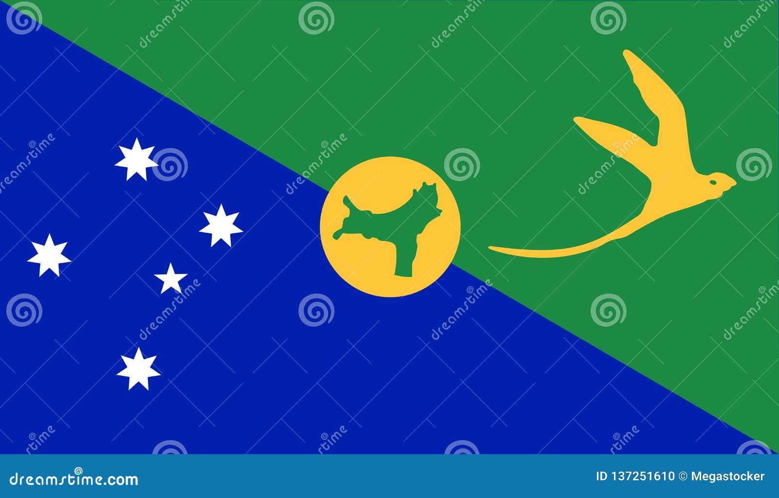 Christmas Island Flag stock vector. Illustration of republic - 137251610