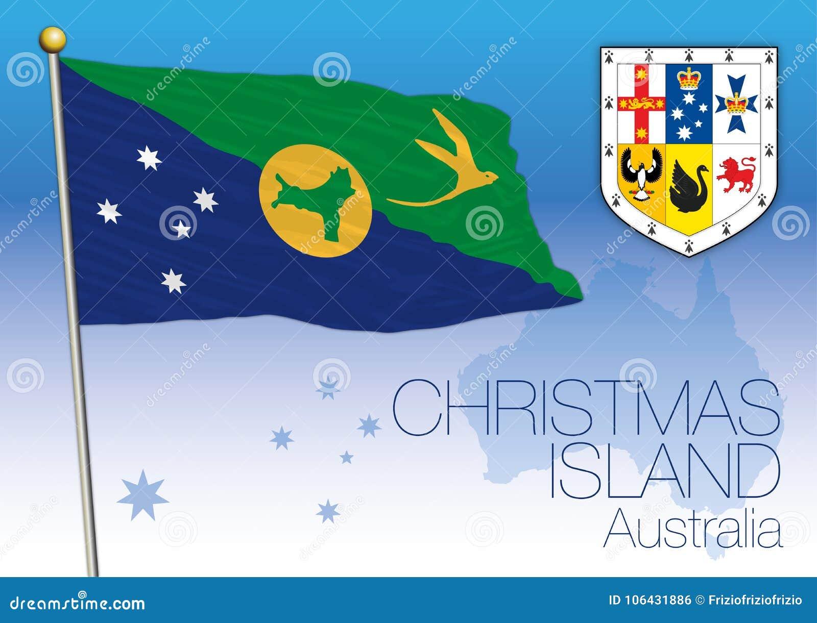 Christmas Island Flag Of The State And Territory Australia Stock