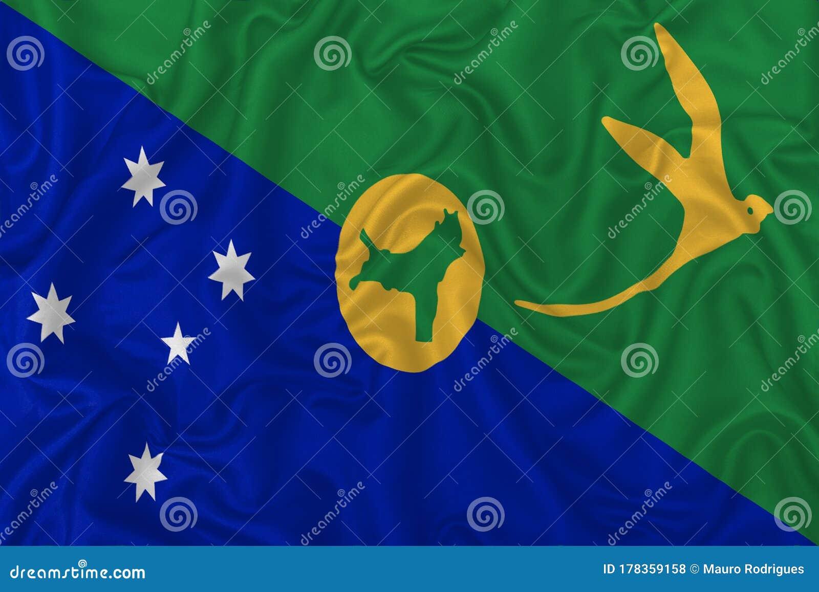 Christmas Island flag stock illustration. Illustration of style - 178359158