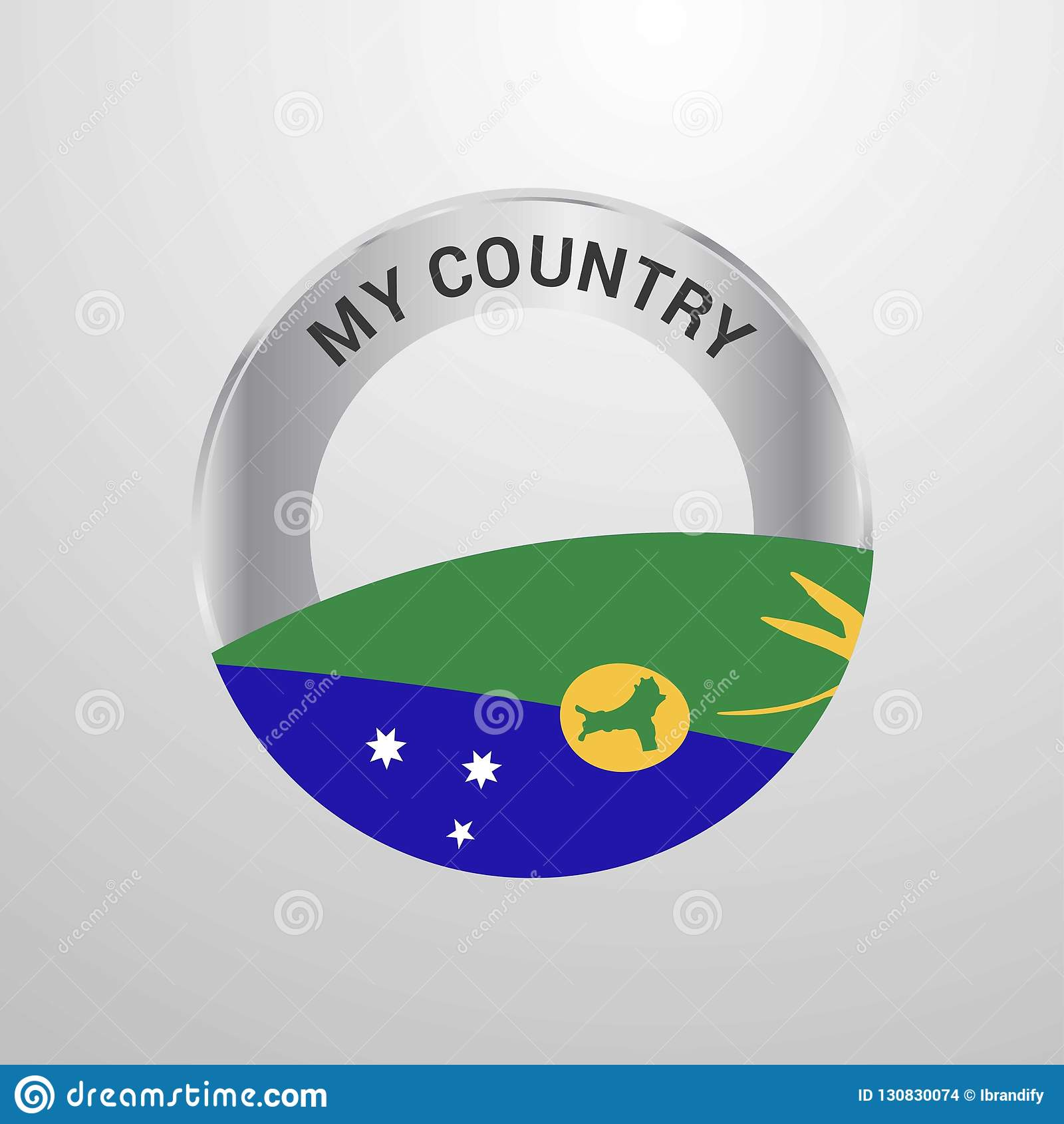 Christmas Island My Country Flag Badge Stock Vector - Illustration of national, design: 130830074