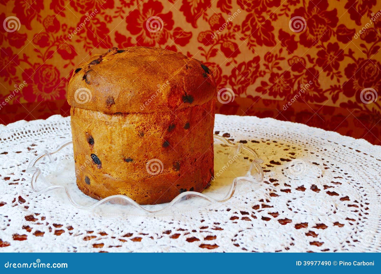 Italian Fruit Cake Recipes: Christmas Italian Fruit Cake Panettone Stock Photo
