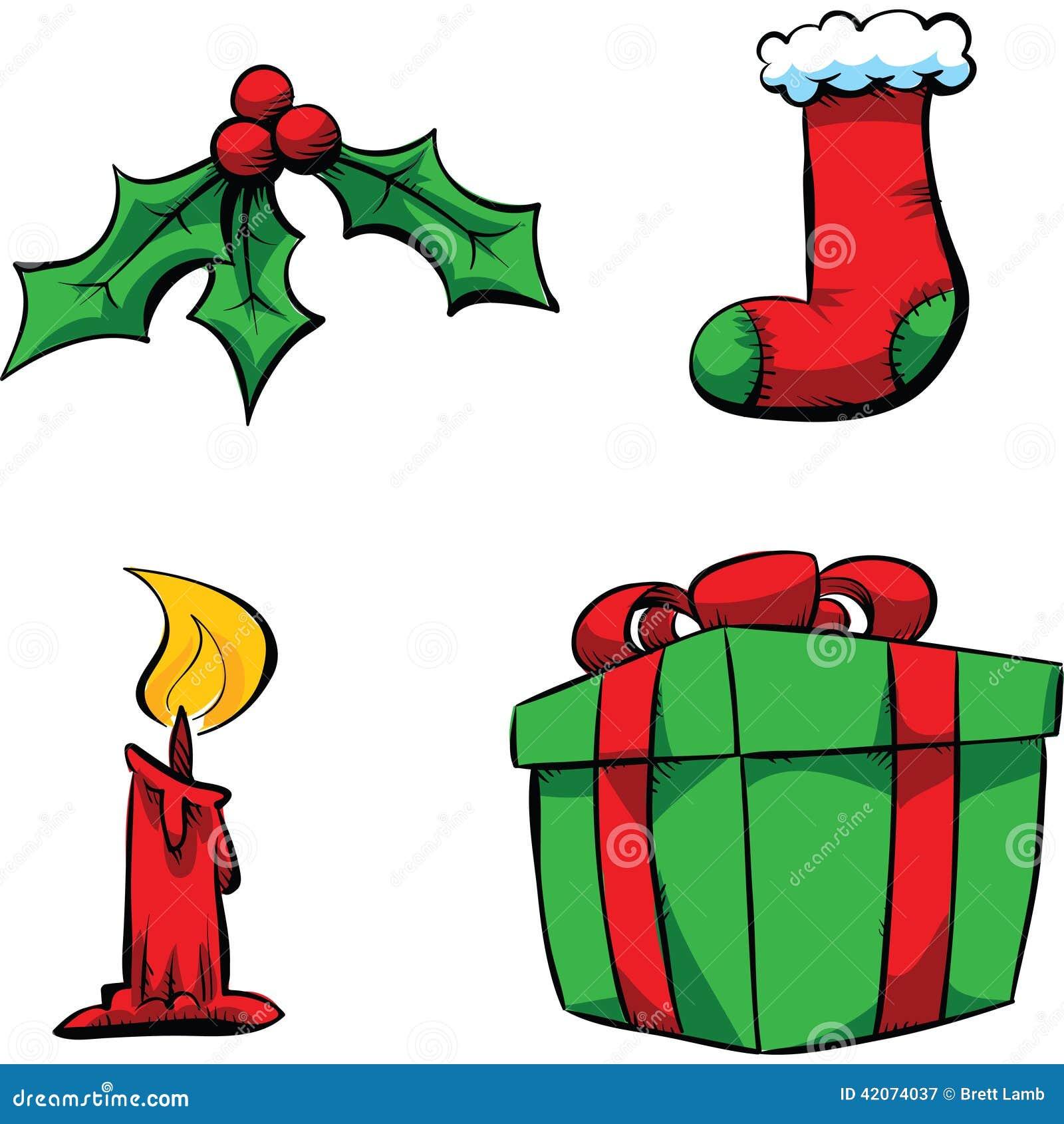 Christmas Items.Christmas Items Stock Illustration Illustration Of Ribbon