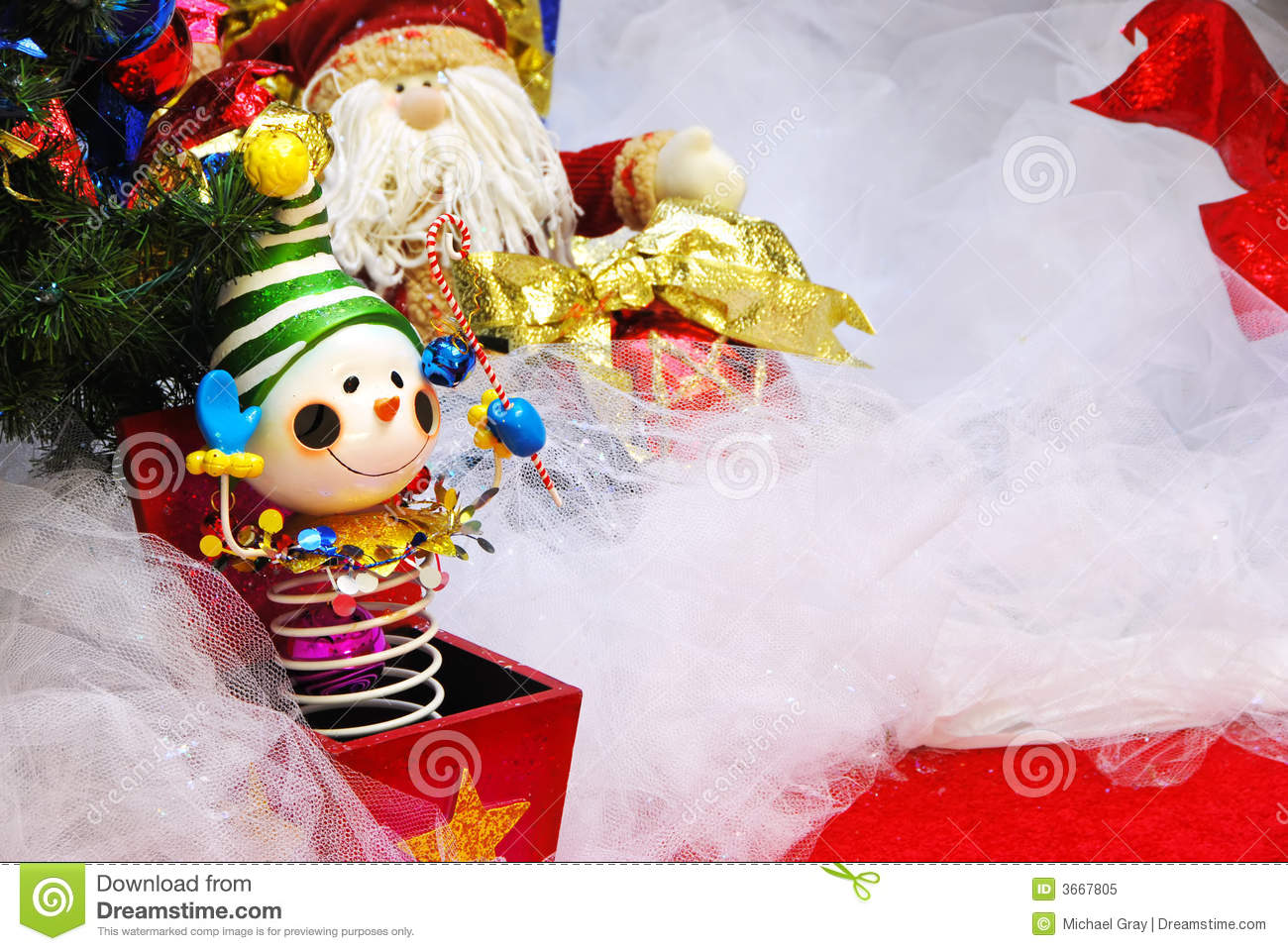Christmas Jack In The Box Royalty Free Stock Photo - Image: 3667805