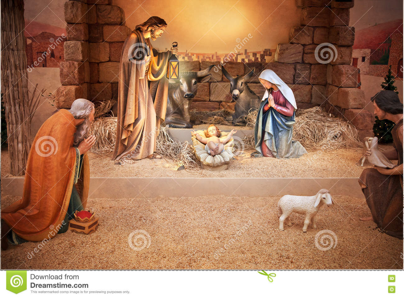 Christmas Jesus Birth Images.Christmas Jesus Birth Nativity Stock Image Image Of Birth