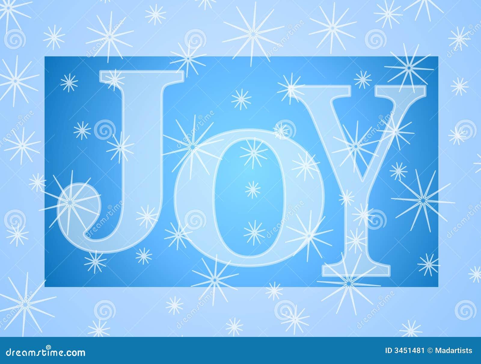 Christmas Joy Banner In Blue Stock Illustration Illustration Of