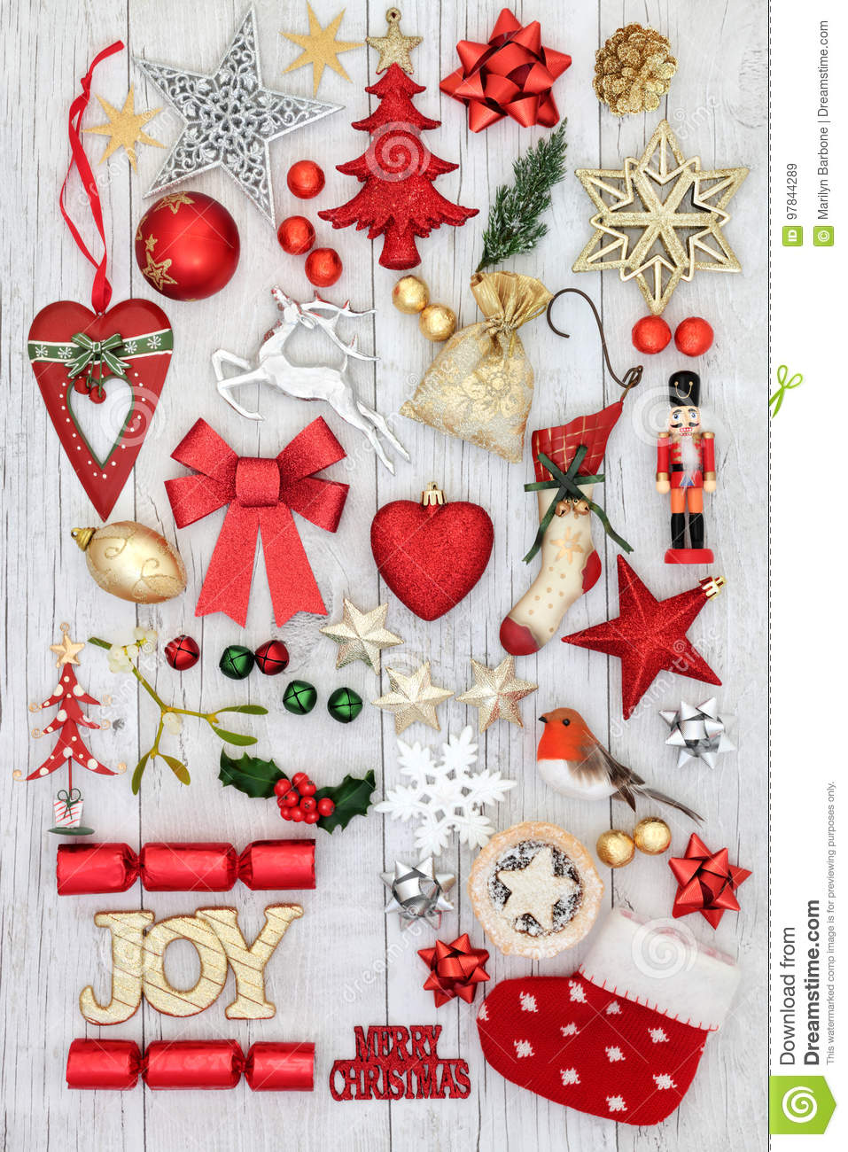 Christmas Joy Sign And Decorations Stock Image - Image of ornament ...