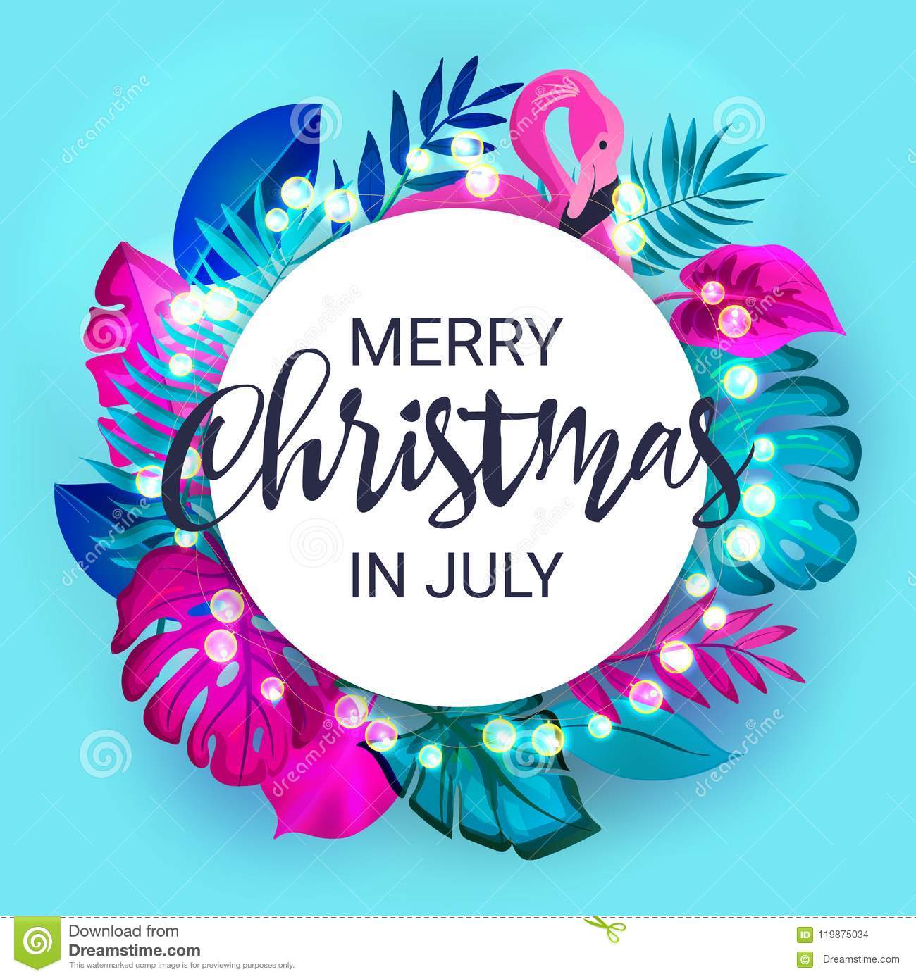 Christmas In July Free Image.Christmas In July Sale Marketing Template Eps 10 Vector