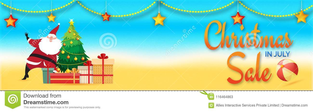 Christmas In July Background Images.Christmas In July Sale Web Header Or Banner Design With